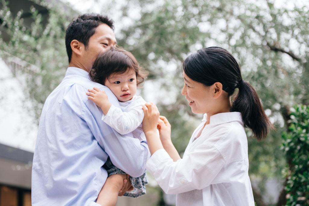 育児を分担する